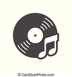 egyszerű, cd, zene, tervezés, audio, ikon