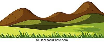 egyszerű, hegy, színhely