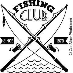 egyszerű, jel, klub, mód, halászat