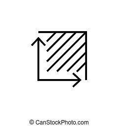 egyszerű, jelkép, terület, tervezés, ikon