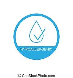 egyszerű, jelkép, tervezés, hypoallergenic, ikon