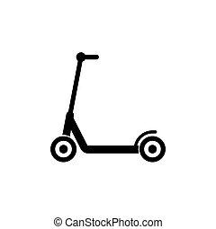 egyszerű, jelkép, tervezés, roller, ikon