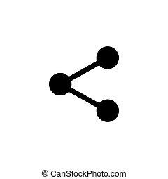 egyszerű, rész, jelkép, tervezés, ikon