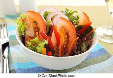 egyszerű, saláta