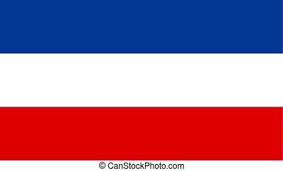 egyszerű, serbia lobogó, tervezés, ikon