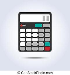 egyszerű, számológép, vektor, ábra, ikon