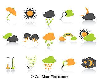 egyszerű, szín, időjárás, állhatatos, ikonok
