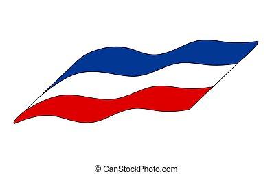 egyszerű, szerbia, elszigetelt, lobogó, tervezés, háttér, fehér, ikon