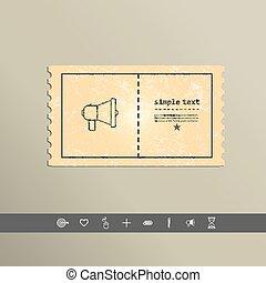 egyszerű, vektor, beszélő, elegáns, tervezés, icon., fénykép