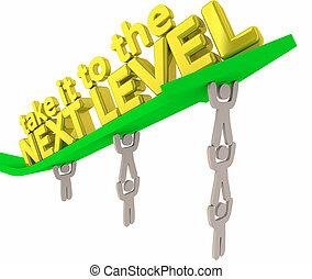 egyszintű, eredmények, azt, ábra, következő, fog, nyíl, befog, emelés, 3