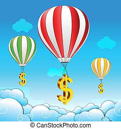 ejtőernyő, dollár