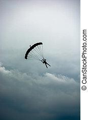 ejtőernyő, elhomályosul