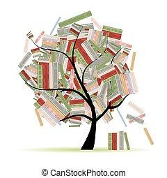 elágazik, fa, könyvtár, előjegyez, tervezés, -e