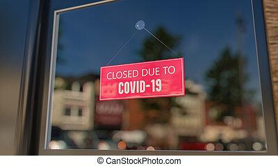 elárul, üzenet, pohár, nap, aláír, közelkép, vakolás, esedékes, covid-19., csukott, 3, bevásárol ablak, töpreng, city.