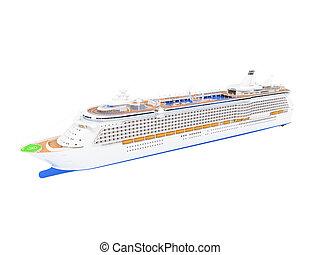 elülső, hajó cruise, elszigetelt, kilátás