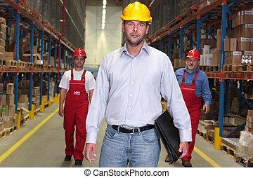 elülső, -, workforce, főnök