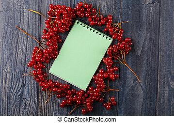 előírások, jegyzetfüzet, viburnum