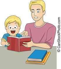 előjegyez, felolvasás, atya, fiú