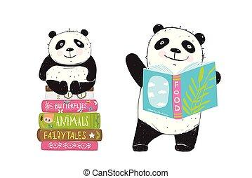 előjegyez, felolvasás, panda tart