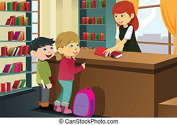előjegyez, kölcsönvevés, könyvtár, gyerekek