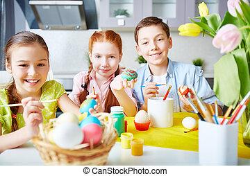 előkészítés, húsvét