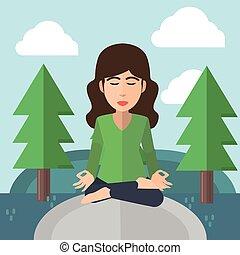előmenetel woman, jóga