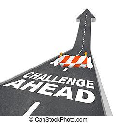 előre, veszély, felelősségre von, szerkesztés, kilyukaszt, figyelmeztetés, út