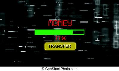 előrehalad, pénz, bár, online, átutalás