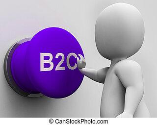 eladás, ügy, fogyasztó, gombol, b2c, látszik