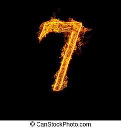 elbocsát, abc, hét, szám 7