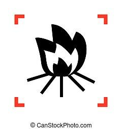 elbocsát, kanyarodik, cégtábla., összpontosít, isol, háttér., fekete, fehér, ikon