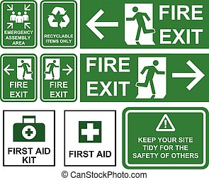 elbocsát, segély, cégtábla, isolated., irányítások, egyetlen, szükséghelyzet, állhatatos, részlet, terület, , kijárat, újra feldolgozható, különböző, zöld, először, gyűlés