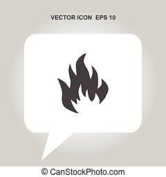 elbocsát, vektor, ikon