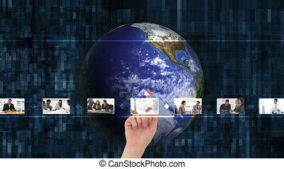 eldöntés, videos, kéz, ügy