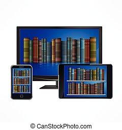 electronic library, berendezés