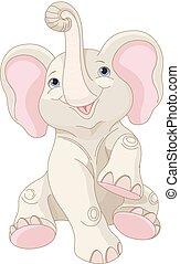 elefánt, csecsemő