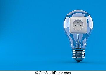 elektromos csillogó, kivezetés, gumó