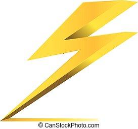 elektromos, dörgés, jelkép, hivatal, vektor, ikon