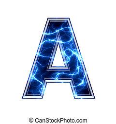 elektromos, -, háttér, levél, fehér, 3