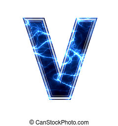 elektromos, -, háttér, levél, v, fehér, 3