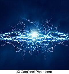 elektromos, hatás, háttér, elvont, techno, világítás, tervezés, -e