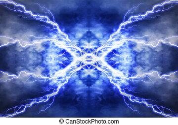 elektromos, hatás, háttér, techno, világítás, elvont