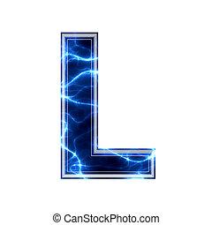 elektromos, -, l, háttér, levél, fehér, 3