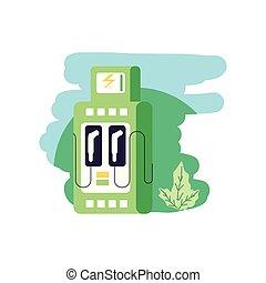 elektromos, szolgáltatás, természet, energia, állomás, őt lap