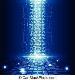 elektromos, telecom, elvont, mérnök-tudomány, vektor, háttér, jövő, technológia