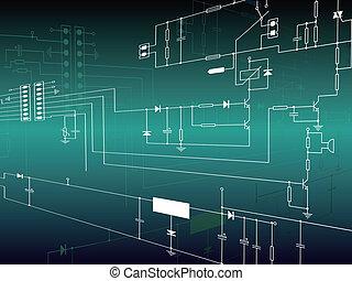 elektronika, áramkör, háttér