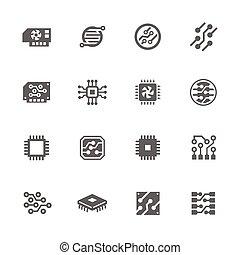 elektronika, együgyű icons