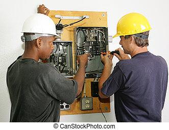 elektrotechnikusok, rendbehozás, bizottság