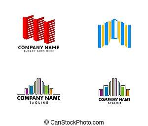 elem, állhatatos, jel, épület, ikon, tervezés