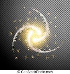 elem, izzó, áttetsző, tervezés, elszigetelt, háttér, csillaggal díszít, különleges